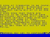 Faust's Folly ZX Spectrum Faust's Folly story page 2