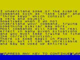 Faust's Folly ZX Spectrum Faust's Folly story page 4