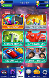 Big Hero 6: Bot Fight Android In-app purchases in the shop