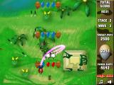 Bloons Super Monkey Browser Stage 2 wave 3: balloons are moving very fast.