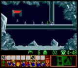 Lemmings SNES Bashing through ice