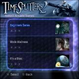 TimeSplitters 2 PlayStation 2 Arcade Mode<br>There are three modes of play Arcade League, Arcade Custom and Network<br>Arcade League has three leagues Amateur, Honorary and Elite<br>These are the amateur games series