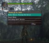 Monster Hunter PlayStation 2 An in-game information screen<br>There's notr much new here at this point. The Chief's wisdom basically says 'master swordplay and don't lose'<br>Trial version