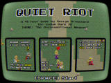 Quiet Riot Browser Title/instructions screen