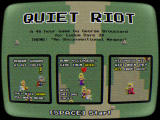 Quiet Riot Windows Title/instructions screen