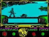The Way of the Tiger ZX Spectrum - (moaning very low) zno... Avengy... znoe... ...I ...I wam... (cof) (cof)... I wamz.... z.... (cof) ... your fatherze.... (final whisper)
