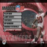 Madden NFL 06 PlayStation 2 The main menu
