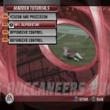 Madden NFL 06 PlayStation 2 This is the menu that shows the gamer how to use the key new features