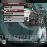 Madden NFL 06 PlayStation 2 The game modes menu