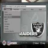 Madden NFL 06 PlayStation 2 The Superstar game mode.<br>Once the player is signed to a team an AI fan will create a fictitious web site to hold the player's stats and chart their progress