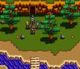 Rejoice: Aretha Ōkoku no Kanata SNES The thieves near a cave entrance