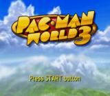 Pac-Man World 3 PlayStation 2 Title screen.