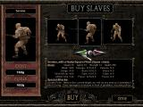 The Gladiators of Rome Windows Buying a new slave (pre-trained in one of six weapon classes).