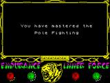 The Way of the Tiger ZX Spectrum level 2 finished - you have mastered the pole combat