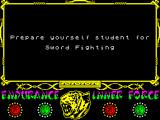 The Way of the Tiger ZX Spectrum prepare yourself
