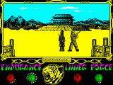 The Way of the Tiger ZX Spectrum The last words of the guardian before being cut in two, mentioned how pitiable the Avenger's brother efforts to fight him were. How he cried saying his brother's name: - Avengy... I'm sorry Avengy...