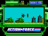 Action Force ZX Spectrum The end of this level is imminent. Bullets and fuel at your right.