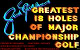 Jack Nicklaus' Greatest 18 Holes of Major Championship Golf Apple IIgs Title screen