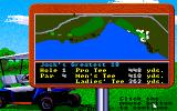 Jack Nicklaus' Greatest 18 Holes of Major Championship Golf Apple IIgs Overview of the 1st hole of the Jack's Greatest 18 course