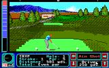 Jack Nicklaus' Greatest 18 Holes of Major Championship Golf Apple IIgs First hole of Castle Pines GC