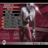 Madden NFL 2005 PlayStation 2 Madden 101 is an option from the main menu. here the gamer will find introductory videos on new features