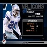 Madden NFL 2005 PlayStation 2 As the gamer switches from one function to the next the game displays a load screen featuring random players pictures and game statistics