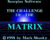 The Challenge of the Matrix Amiga Title screen.