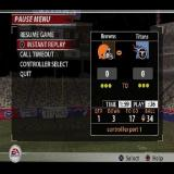Madden NFL 2005 PlayStation 2 The game pause menu for a full match in Franchise mode