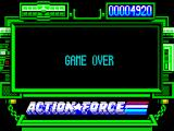 Action Force ZX Spectrum Game Over