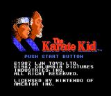 The Karate Kid NES The title screen