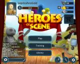 Heroes of Scene Linux Title and main menu