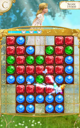Cinderella: Free Fall Android The Magic Butterfly does its magic to remove all the red jewels.