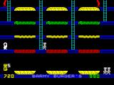 Barmy Burgers ZX Spectrum 2nd Level. Notice that the left and right ladders were shortened.