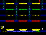 Barmy Burgers ZX Spectrum 3rd Level. The Upper middle ladder accesses were cut.