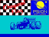 Chequered Flag ZX Spectrum Loading Screen.