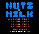 Nuts & Milk NES An effective title screen