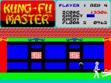 Kung-Fu Master ZX Spectrum 2nd level - boss with boomerang not about to be knocked out but really knocked out. (what's that sound behi..)