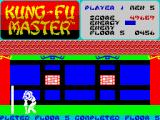 Kung-Fu Master ZX Spectrum 5th level - completed - (Bruce Long lowering his hand into her bu...)