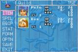 Breath of Fire II Game Boy Advance The stats screen