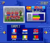 International Superstar Soccer Deluxe SNES Team Select Screen