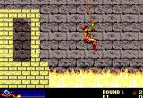 Rastan DOS Jump on the rope quick, the wall pushes you into the fire