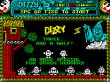 Dizzy 3 and a Half ZX Spectrum Title screen.