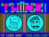 Twinz! ZX Spectrum Title screen.
