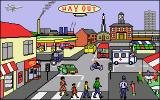 Let's Spell Out and About Amiga Town