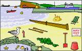 Let's Spell Out and About Amiga Seaside
