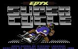 Super Cycle Commodore 64 Title screen