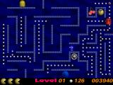 Pac Them Atari ST A fruit is spawning, but I am moving in the teleporter, so will miss it