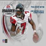 Madden NFL 2004 PlayStation 2 The game's title screen.<br>There's no animated introduction to this game, just a professional player saying the EA catchphrase 'It's In The Game'