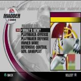 Madden NFL 2004 PlayStation 2 The Madden 101 option from the main menu takes the player to this screen. All these options are animated sequences illustrating the new options in this game