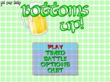 Bottoms Up Windows Title screen with main menu